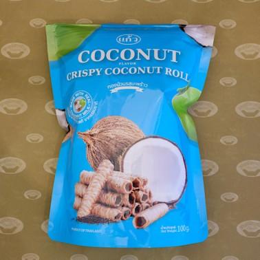 Keaw Crispy Rolls Coconut Flavor (ทองม้วนแก้วรสมะพร้าว)