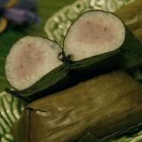 Steamed Sticky Rice with Taro (ข้าวต้มมัด เผือก)