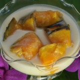 Pumpkin in Coconut Milk (ฟักทองแกงบวช)