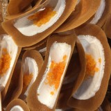Kanom Bueng Kem - Savory Crispy Crepe (ขนมเบื้องรสเค็ม)